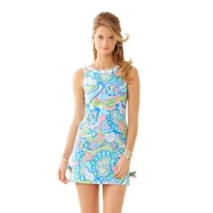 Lilly Pulitzer Delia Shift Dress in Conch Republic